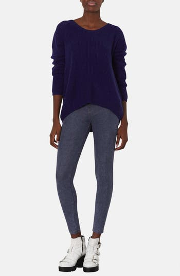 Alternate Image 4  - Topshop Denim Leggings