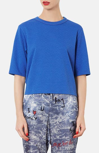 Alternate Image 1 Selected - Topshop Textured Tee