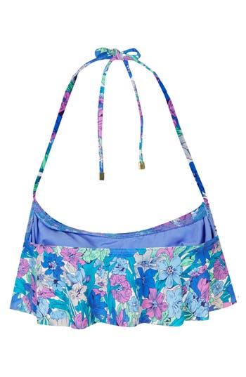 Alternate Image 2  - Topshop Floral Shelf Bikini Top