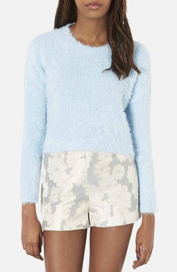 Main Image - Topshop Textured Crop Sweater