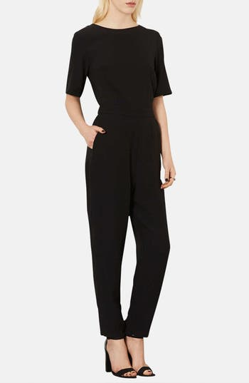 Alternate Image 1 Selected - Topshop Matte Satin Jumpsuit