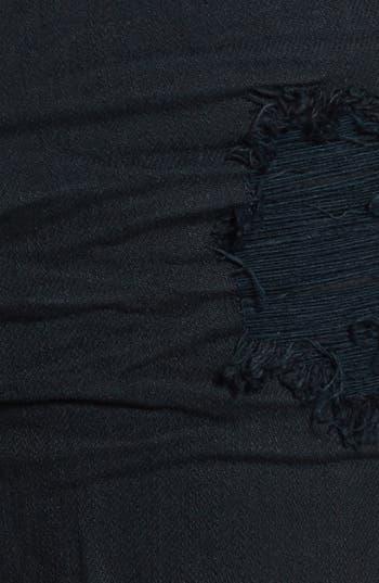Alternate Image 3  - Jolt Destroyed High Waist Black Denim Cutoffs (Juniors) (Online Only)