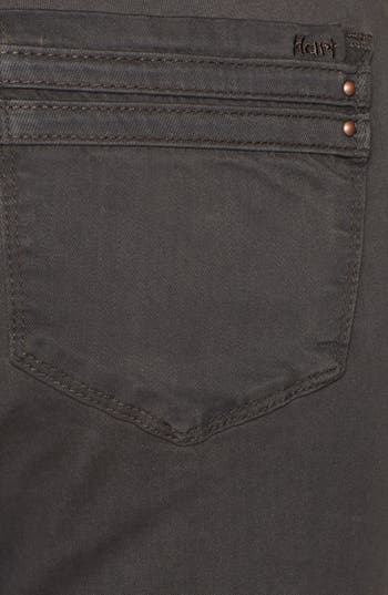 Alternate Image 3  - HART Denim Overdyed Skinny Jeans (Brown) (Juniors)