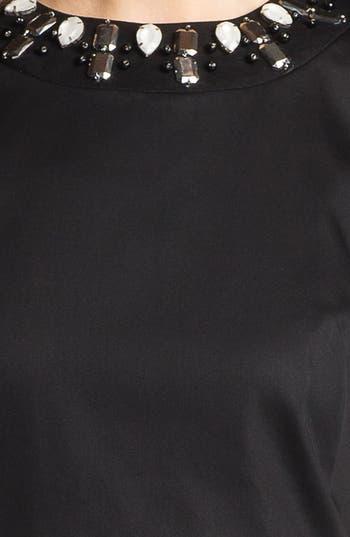 Alternate Image 3  - Milly 'Astrid' Embellished Stretch Cotton Sheath Dress