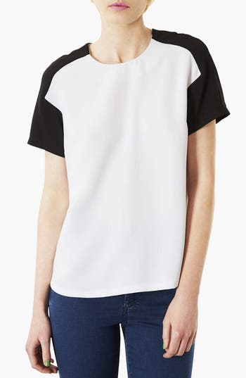 Alternate Image 1 Selected - Topshop Mono Panel Tee