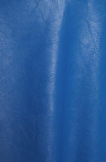 Alternate Image 3  - ASTR Faux Leather Skater Skirt