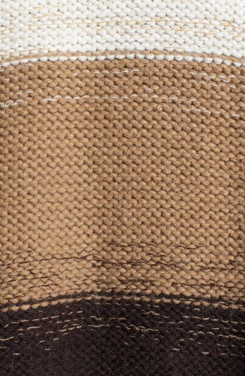 Alternate Image 4  - MICHAEL Michael Kors Stripe Turtleneck Poncho Sweater
