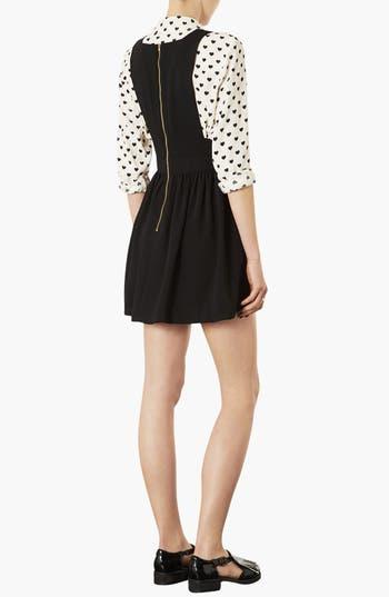 Alternate Image 2  - Topshop 'Wonder' Pinafore Dress