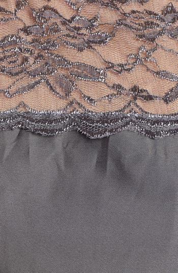 Alternate Image 3  - Alex Evenings Illusion Yoke Satin Fit & Flare Dress