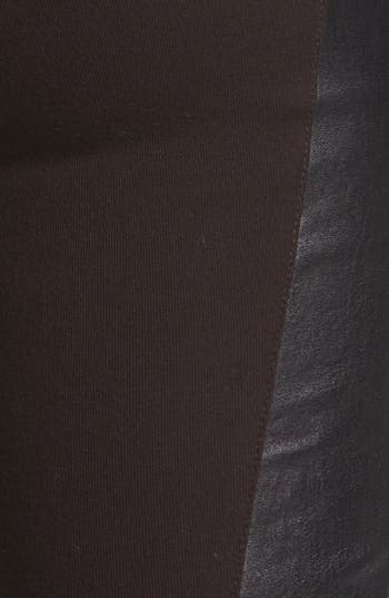 Alternate Image 3  - Theory 'Miana' Leather & Knit Skinny Pants