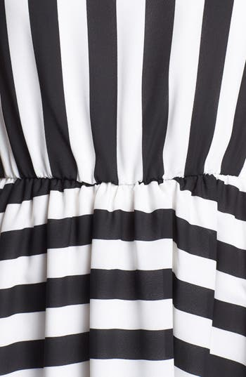 Alternate Image 3  - Minty Stripe Elastic Waist Dress (Juniors) (Online Only)
