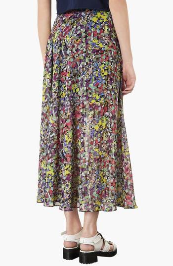 Alternate Image 2  - Topshop 'Dot Floral' Print Maxi Skirt