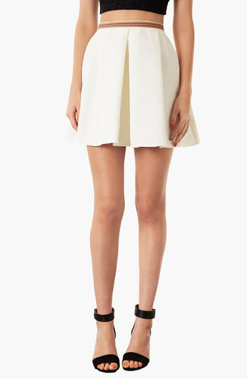 Main Image - Topshop Textured Round Skirt