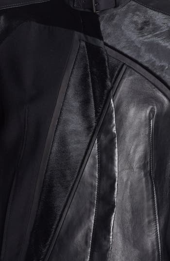 Alternate Image 4  - Helmut Lang Genuine Calf Hair & Leather Jacket