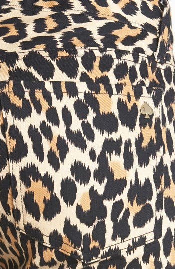 Alternate Image 3  - kate spade new york 'broome street' print slim stretch jeans (neutral ikat animal)