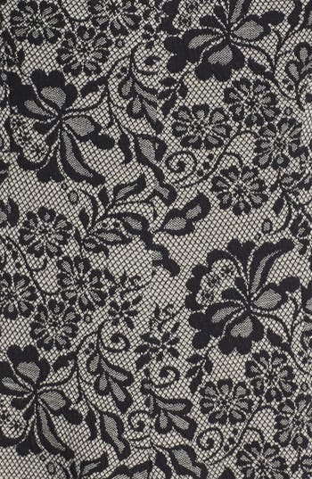 Alternate Image 3  - Maggy London Lace Print Jacquard Fit & Flare Dress (Petite)