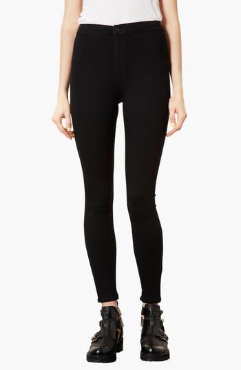 Alternate Image 1 Selected - Topshop 'Joni' High Rise Skinny Jeans (Black)