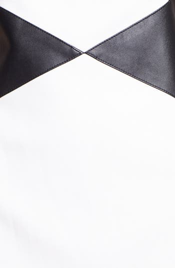 Alternate Image 3  - Laundry by Shelli Segal Faux Leather Trim Sheath Dress