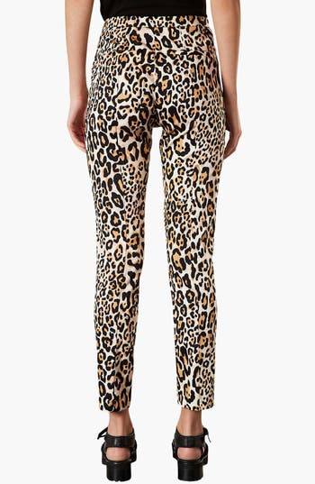 Alternate Image 2  - Topshop Animal Print Skinny Trousers