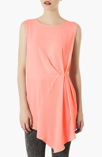 Alternate Image 1 Selected - Topshop Side Pleat Blouse