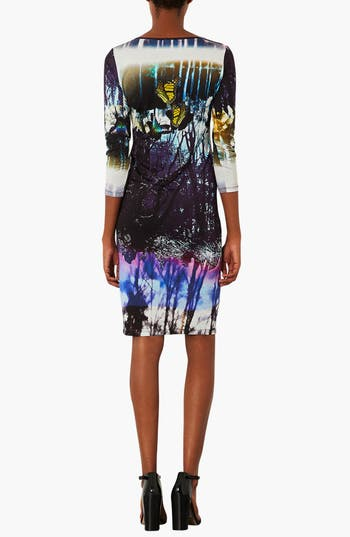 Alternate Image 2  - Topshop 'Moodywood' Body-Con Dress