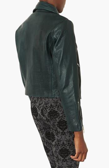 Alternate Image 2  - Topshop 'Caddy' Leather Moto Jacket