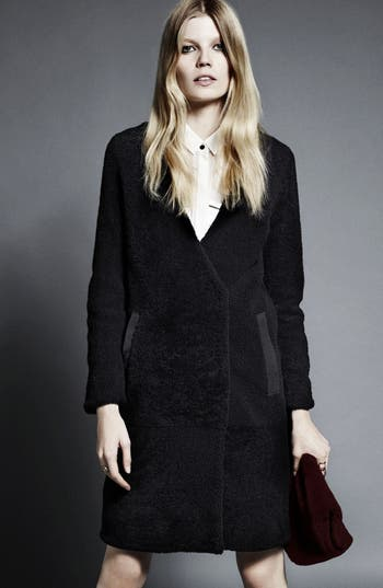 Alternate Image 2  - Topshop 'The Collection Starring Kate Bosworth' Genuine Shearling Coat