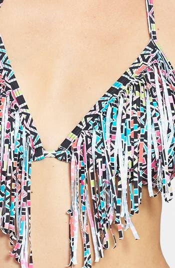 Alternate Image 3  - BP. Undercover Fringe Triangle Bikini Top (Juniors)