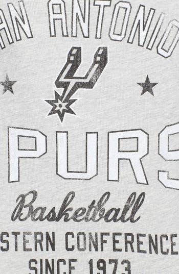 Alternate Image 3  - Sportiqe 'San Antonio Spurs' Fleece Crop Sweatshirt (Juniors) (Online Only)
