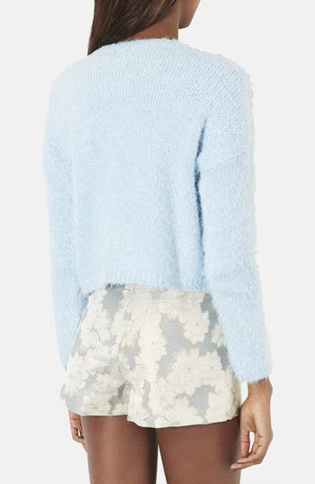 Alternate Image 2  - Topshop Textured Crop Sweater