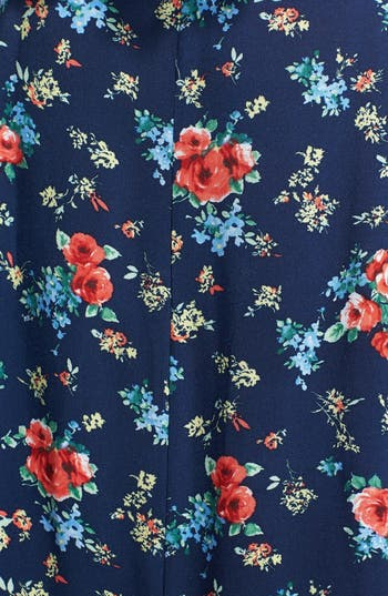 Alternate Image 3  - Lily White Floral Print Full Maxi Skirt (Juniors) (Online Only)