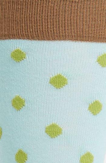 Alternate Image 2  - Lorenzo Uomo Organic Leaf Dot Socks