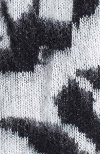 Alternate Image 3  - Woven Heart Rose Sweater (Juniors)