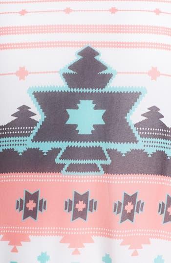 Alternate Image 3  - Painted Threads Print Tie Back Top (Juniors Plus)