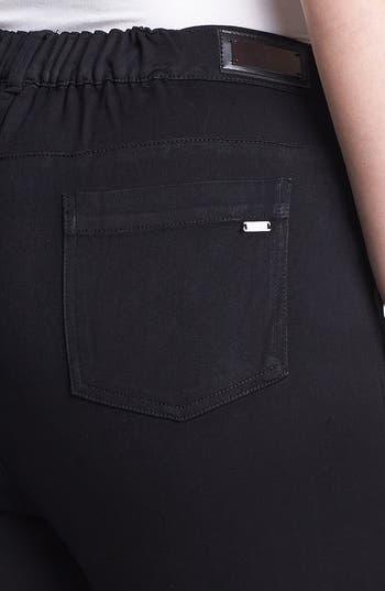 Alternate Image 3  - Evans Colorblock Skinny Jeans (Plus Size)