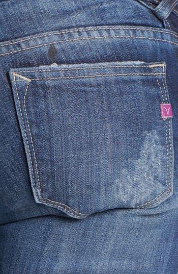 Alternate Image 3  - Vigoss Zip Pocket Destroyed Skinny Jeans (Medium) (Juniors)