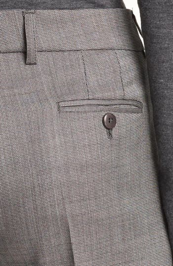 Alternate Image 3  - Armani Collezioni Narrow Micro Herringbone Pants