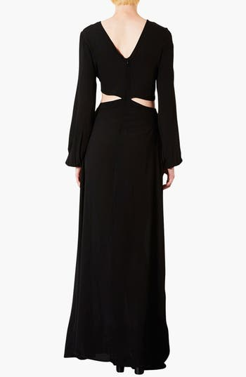 Alternate Image 2  - Topshop Cutout Waist Jersey Gown