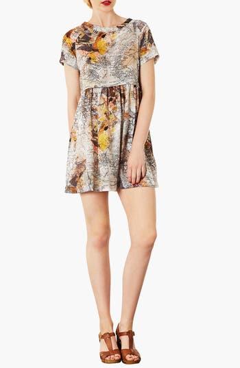 Main Image - Topshop Map Print Tunic Dress