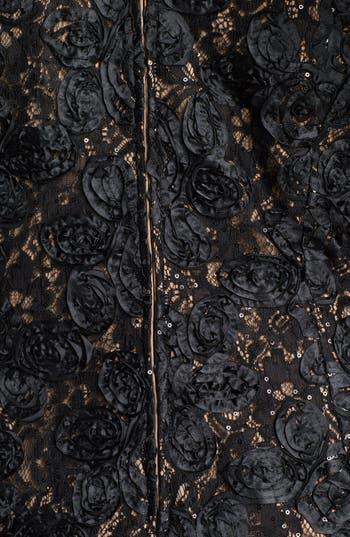 Alternate Image 3  - Alex Evenings Rosette Lace Top (Plus Size)