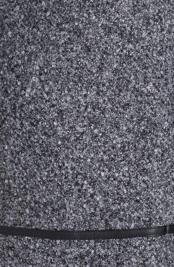 Alternate Image 5  - kensie Faux Leather Trim Tweed Skirt
