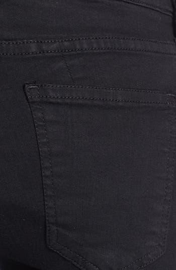 Alternate Image 4  - Current/Elliott 'The Ankle Seamstress' Skinny Jeans (Jet Black)
