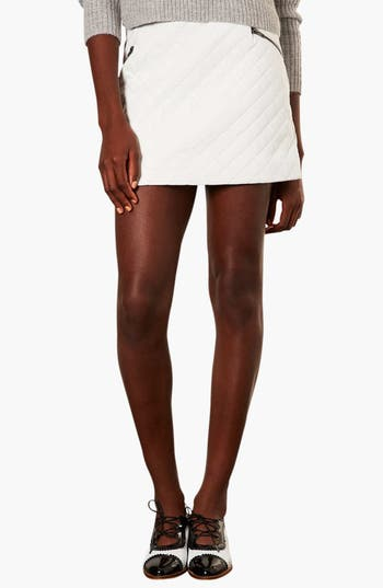 Alternate Image 1 Selected - Topshop Quilted A-Line Skirt