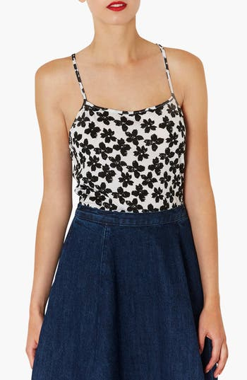 Alternate Image 1 Selected - Topshop Floral Print Racerback Camisole