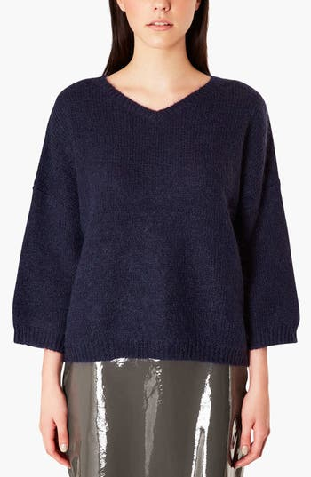 Alternate Image 1 Selected - Topshop Boutique V-Neck Slouchy Sweater
