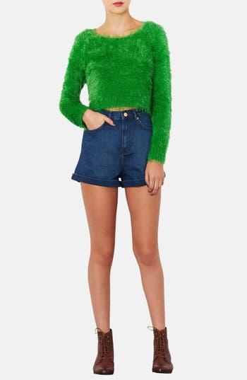 Alternate Image 4  - Topshop 'Gaga' Textured Crop Sweater