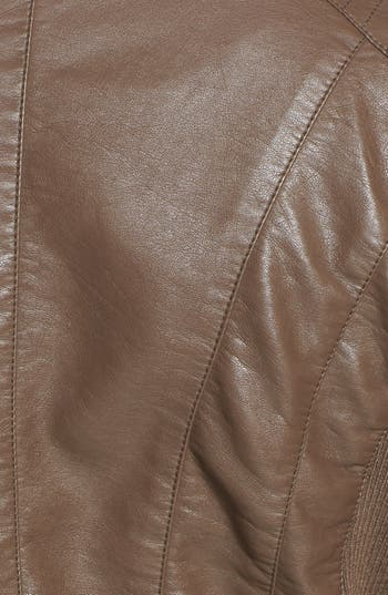 Alternate Image 3  - Thread & Supply Faux Leather Moto Jacket (Juniors) (Online Only)