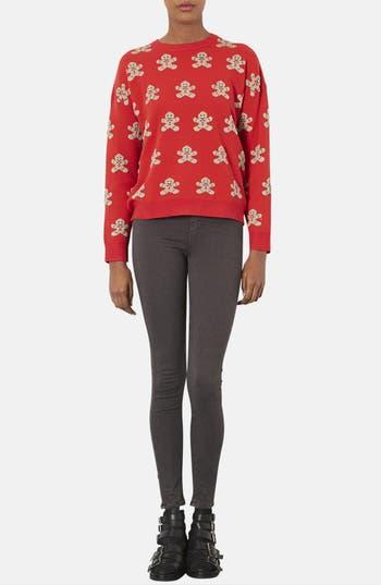 Alternate Image 4  - Topshop Gingerbread Man Sweater