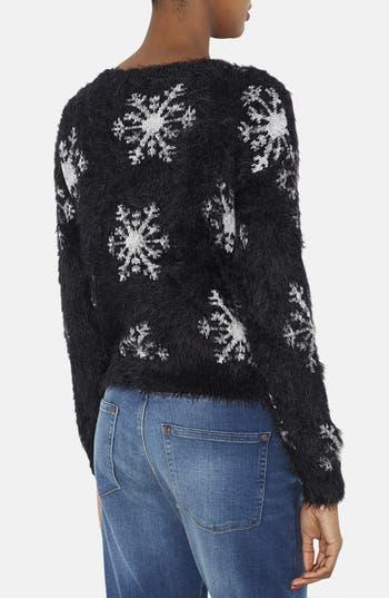 Alternate Image 2  - Topshop Textured Snowflake Sweater (Petite)