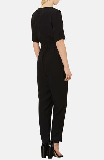 Alternate Image 2  - Topshop Matte Satin Jumpsuit